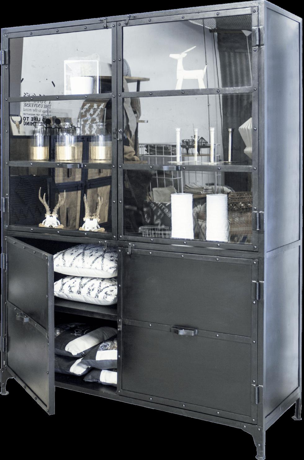 K040z Robuust industriële buffetkast, marcia giga meubel, van quip&Co