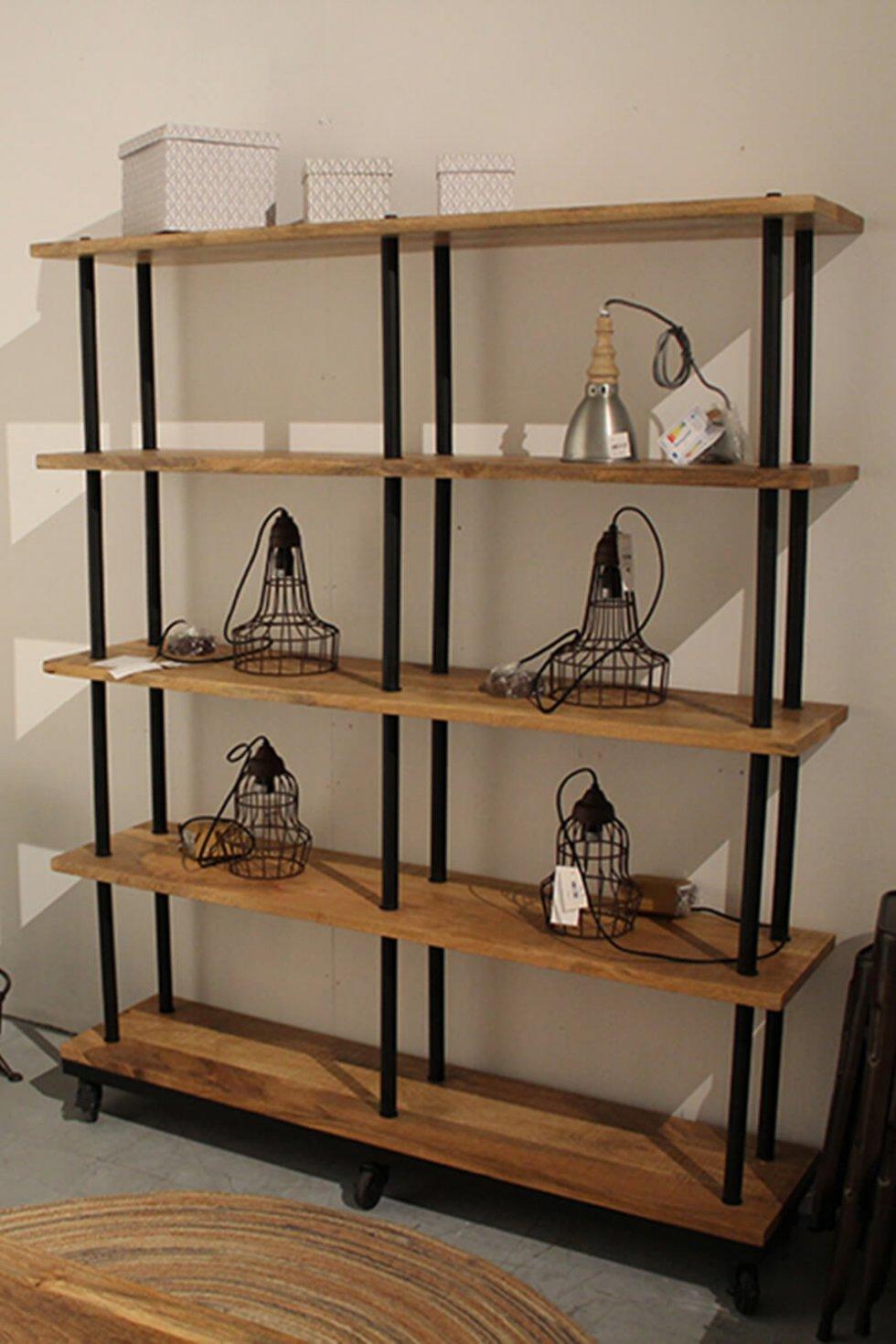 K002 open industriële kast of room divider van quip&Co met vintage karakter