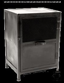 K005z Industrieel kastje met gaasdeurtje van quip&Co
