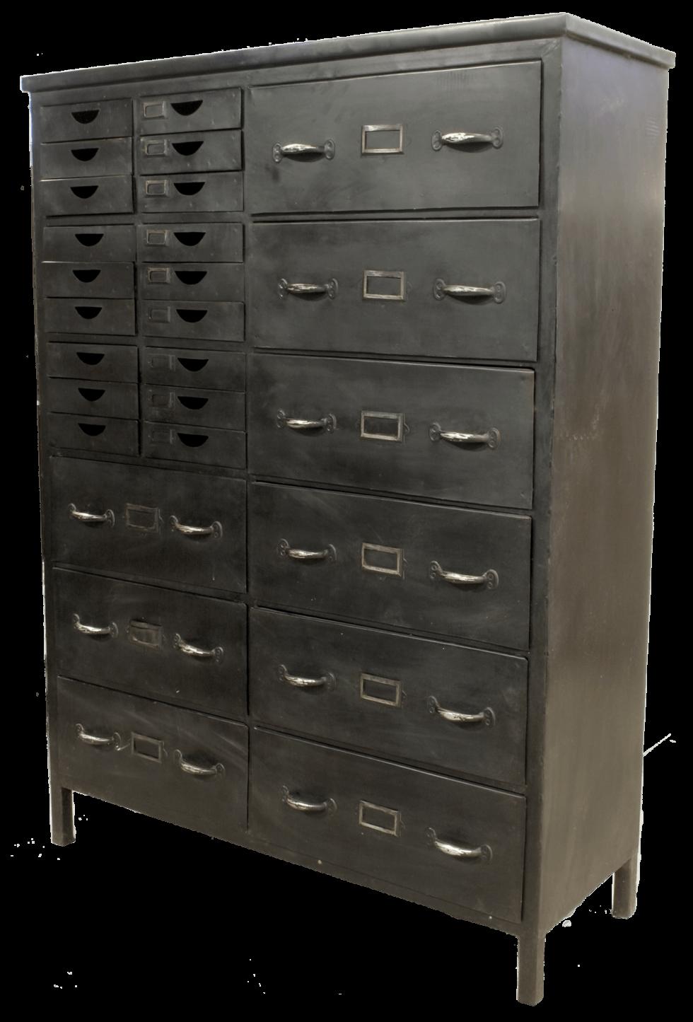 K006 Industriële ladenkast met 27 laden de perfecte opberger van quip&Co