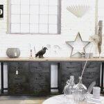 K010 Industrieel dressoir met massief mango houten blad bij quip&Co