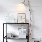 Industriële trolley van metaal met strak, eigentijds design va nquip&Co