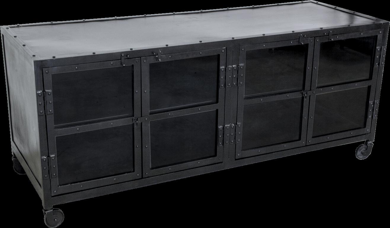 Metalen Tv Kast : ≥ aparte retro tv kast met metalen strip met wielen kasten tv