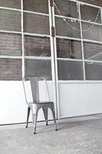 Z003s industriële eetkamerstoel van ijzer van quip&Co