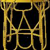 Industriële boho draadstoel met inklapbare rugleuning voor kruk of bijzettafel