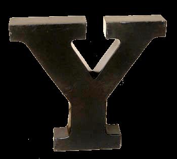 IJzeren letter met industrieel vintage uitstraling van quip&Co