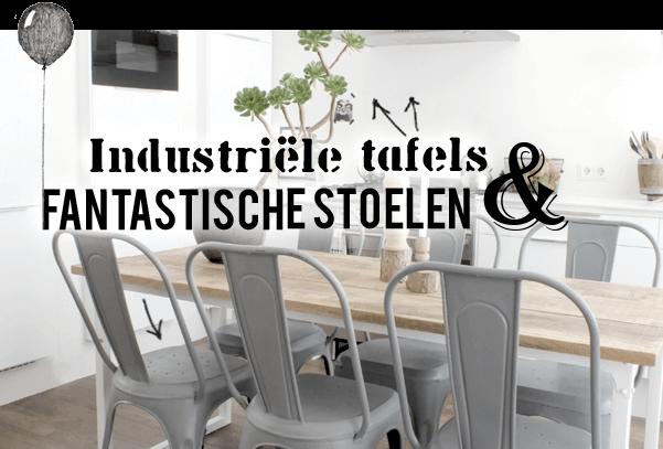 Industriële eettafels en stoelen bij quip&Co