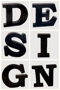 IJzeren letter zwart