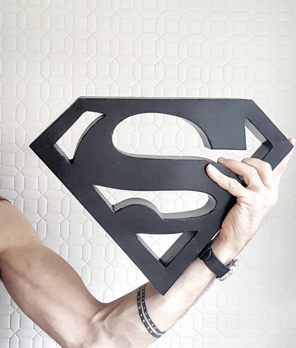 A018sm Superman sign van ijzer bij quip&Co