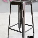 Z023_Industriële barkruk metaal ijzer staal 62 cm
