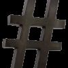 Hashtag van metaal in het zwart en wit van quip&Co
