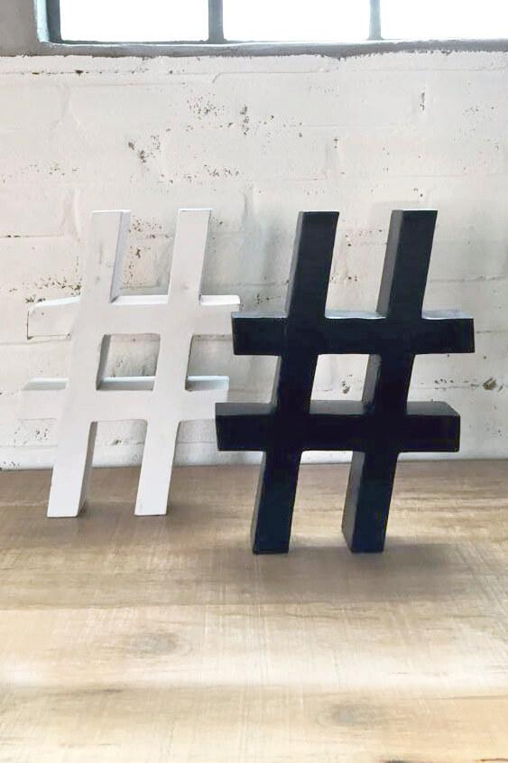 A005 hashtag metaal van quip&Co