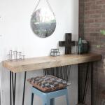 T023 side table met hairpin poten