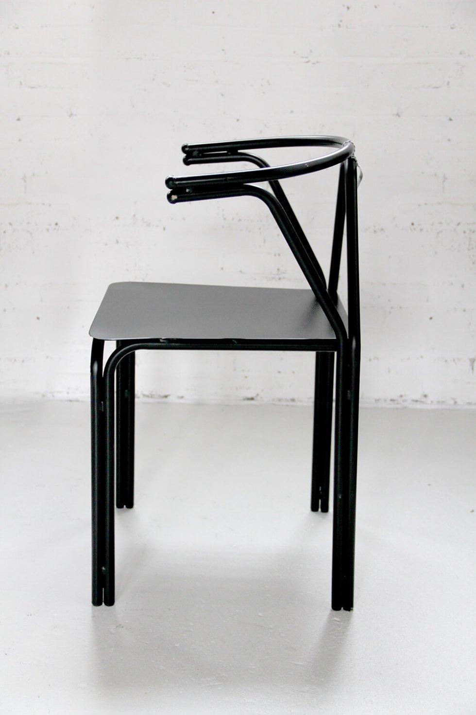 Z015 - Industriële eetkamerstoel met design look naar caféstoel bij quip&Co